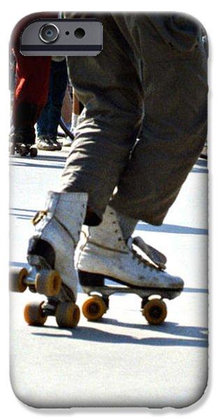 Roller skates iPhone Case by Emanuel Tanjala