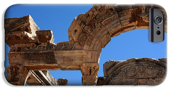 Ephesus iPhone Cases - Roman Arch Ephesus Turkey iPhone Case by Bob Christopher