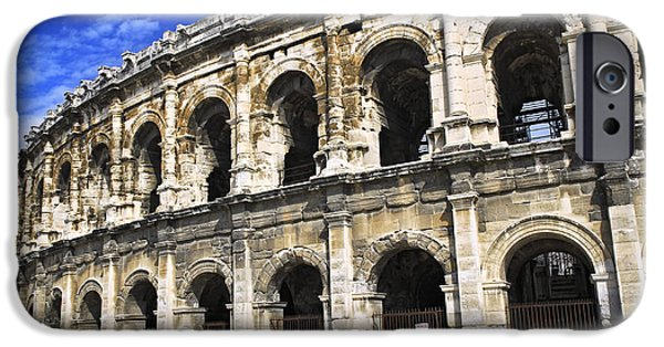 Provence Photographs iPhone Cases - Roman arena in Nimes France iPhone Case by Elena Elisseeva