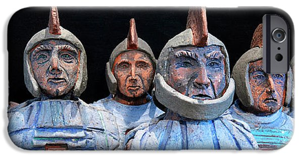 Old Ceramics iPhone Cases - Roman Warriors - Bust sculpture - Roemer - Romeinen - Antichi Romani - Romains - Romarere iPhone Case by Urft Valley Art