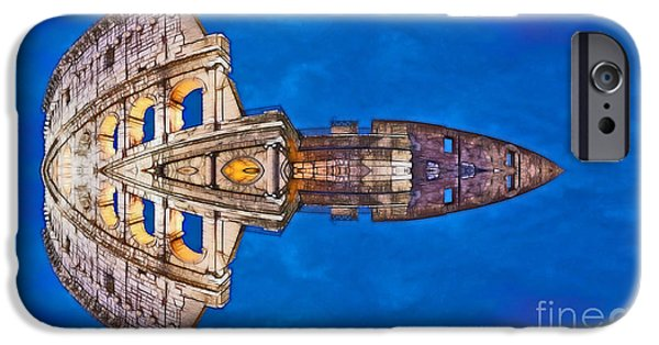 Aimelle Prints iPhone Cases - Romano Spaceship - Archifou 73 iPhone Case by Aimelle