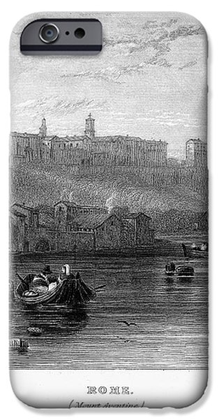ROME: AVENTINE HILL, 1833 iPhone Case by Granger