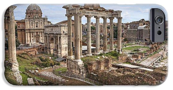 Roman iPhone Cases - Rome Forum Romanum iPhone Case by Joana Kruse