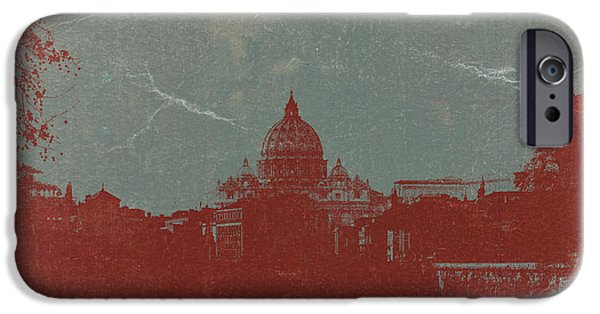 Vatican iPhone Cases - Rome iPhone Case by Naxart Studio