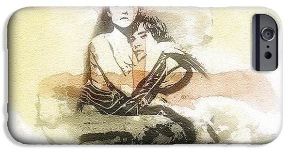 Balcony Digital Art iPhone Cases - Romeo and Juliet iPhone Case by Mo T