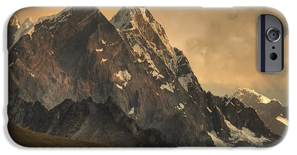 Mountain iPhone Cases - Rondoy Peak 5870m At Sunset iPhone Case by Colin Monteath