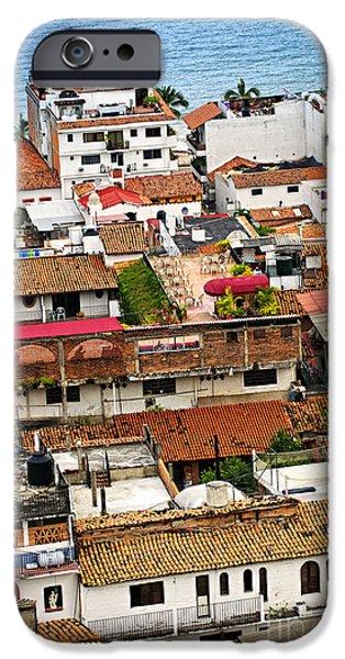 Rooftops in Puerto Vallarta Mexico iPhone Case by Elena Elisseeva