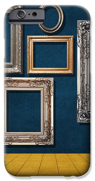 room with frames iPhone Case by ATIKETTA SANGASAENG