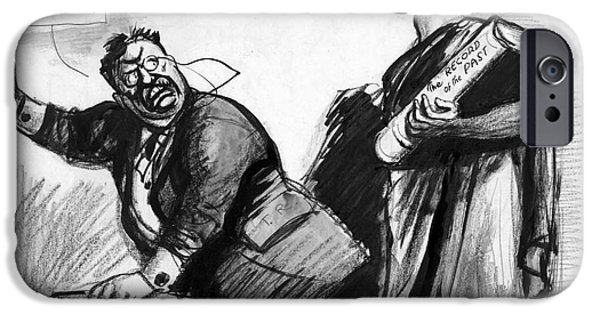 Political Allegory iPhone Cases - ROOSEVELT CARTOON, c1916 iPhone Case by Granger