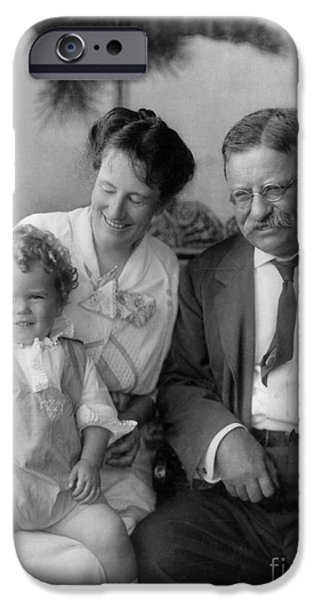 First Family iPhone Cases - Roosevelt Family, 1915 iPhone Case by Granger