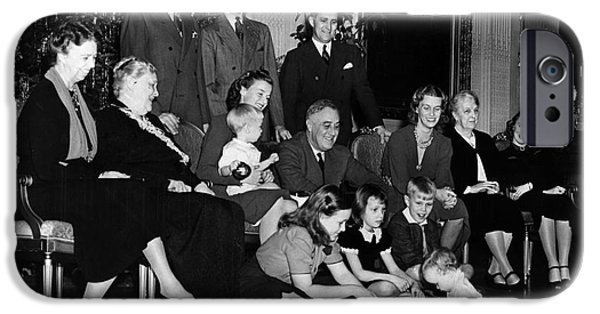 First Family iPhone Cases - Roosevelt: Family, 1939 iPhone Case by Granger