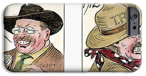 Candidate iPhone Cases - Roosevelt/taft Cartoon iPhone Case by Granger