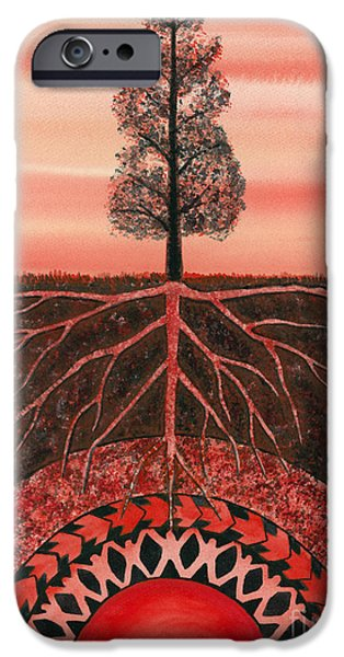 Chakra Paintings iPhone Cases - Root Chakra iPhone Case by Catherine G McElroy
