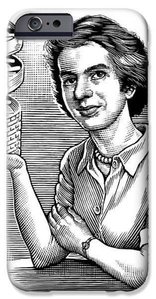 Biochemist iPhone Cases - Rosalind Franklin, British Chemist iPhone Case by Bill Sanderson