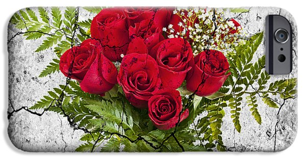 Floral Photographs iPhone Cases - Rose bouquet iPhone Case by Elena Elisseeva