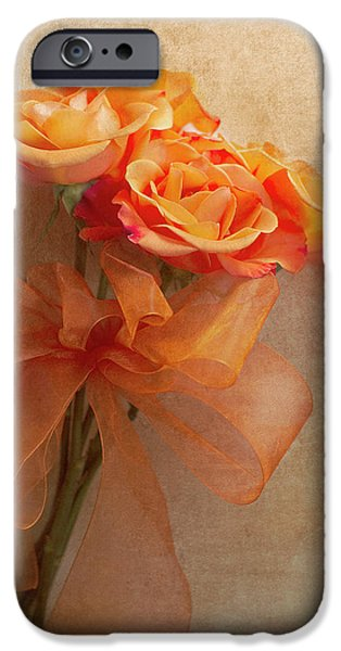 Rose iPhone Cases - Rose Bouquet iPhone Case by Rebecca Cozart