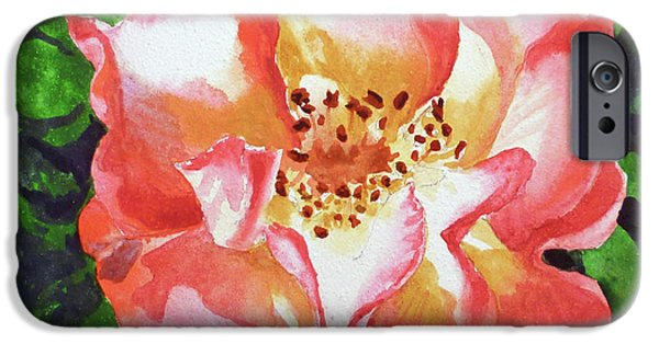 Green Roses iPhone Cases - Rose  iPhone Case by Irina Sztukowski