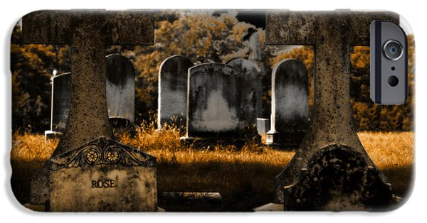 Head Stone iPhone Cases - Rose iPhone Case by Steven  Digman