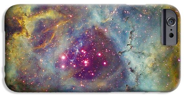 Rosette iPhone Cases - Rosette Nebula Ngc 2244 In Monoceros iPhone Case by Filipe Alves