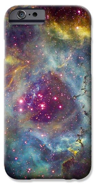 Rosette Nebula Ngc 2244 In Monoceros iPhone Case by Filipe Alves