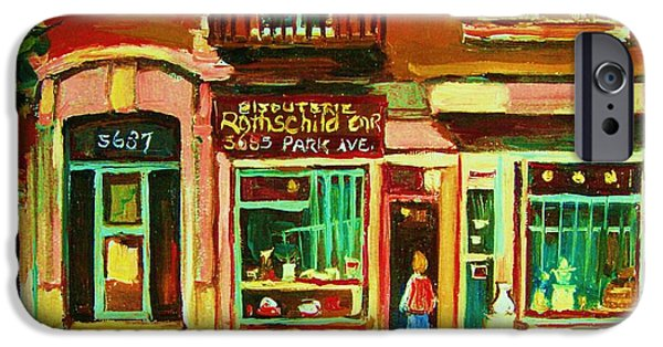 Outremont iPhone Cases - Rothchilds Jewellers On Park Avenue iPhone Case by Carole Spandau