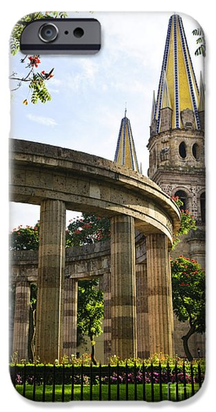 Rotunda of Illustrious Jalisciences and Guadalajara Cathedral iPhone Case by Elena Elisseeva