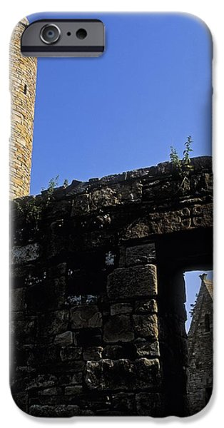 Round Tower And Chapel, Ulster History iPhone Case by The Irish Image Collection