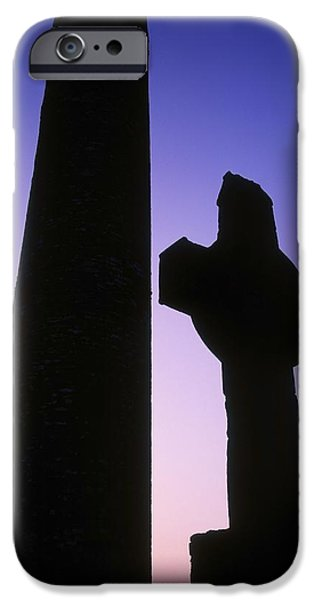 Dawn Of The Dead iPhone Cases - Round Tower And High Cross iPhone Case by The Irish Image Collection