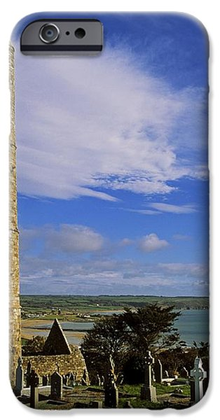 Round Tower, Ardmore, Co Waterford iPhone Case by The Irish Image Collection