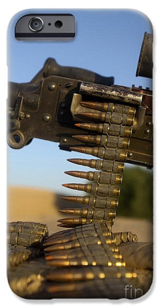 Rounds Of A M240 Machine Gun iPhone Case by Stocktrek Images