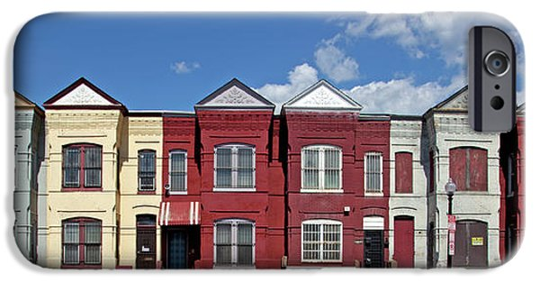 D.c. iPhone Cases - Row Houses Two iPhone Case by Carol M Highsmith