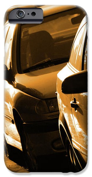 Row of Cars iPhone Case by Carlos Caetano