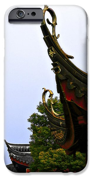 Row of Chinese Rooftops iPhone Case by Christine Till