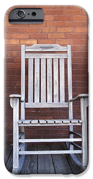 Row of Rocking Chairs iPhone Case by Skip Nall