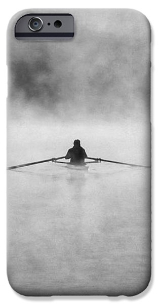 Rowing on the Chattahoochee iPhone Case by Darren Fisher