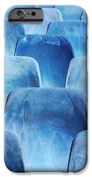 Rows of blue chairs iPhone Case by Carlos Caetano