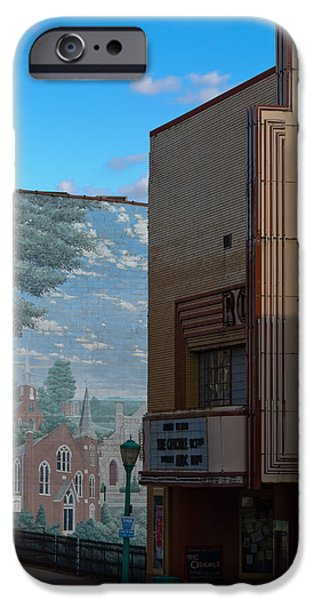 Roxy Theater and Mural iPhone Case by ED GLEICHMAN