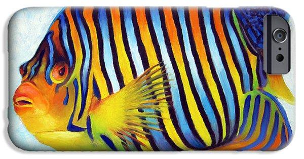 Islamorada iPhone Cases - Royal Queen Angelfish iPhone Case by Nancy Tilles