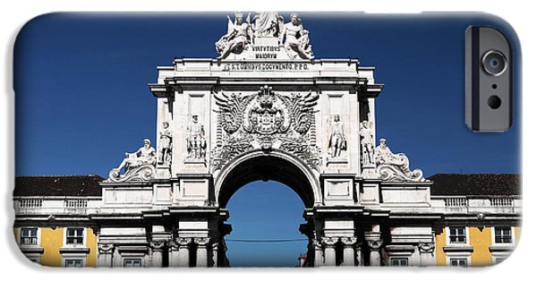 Historic Site iPhone Cases - Rua Augusta Arch iPhone Case by John Rizzuto