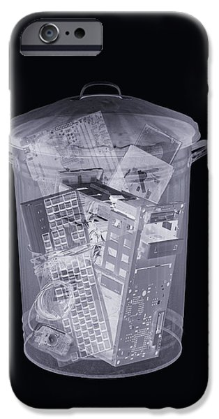 Upgrade iPhone Cases - Rubbish Bin, Simulated X-ray iPhone Case by Mark Sykes