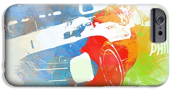 Racing Photographs iPhone Cases - Rubens Baricello iPhone Case by Naxart Studio