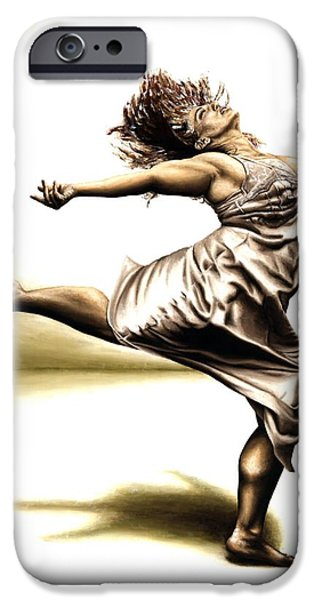 Figures Paintings iPhone Cases - Rubinesque Dancer iPhone Case by Richard Young
