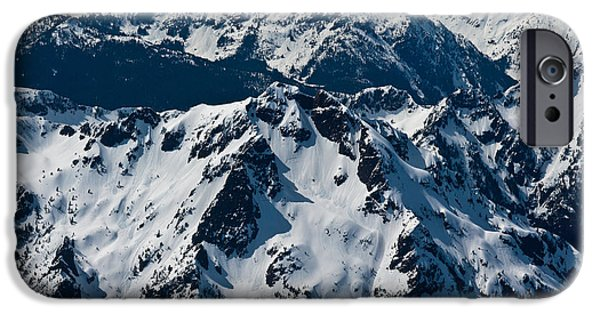 Brother iPhone Cases - Rugged Olympic Mountains iPhone Case by Mike Reid