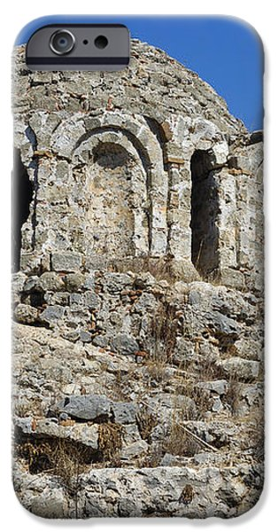 Ruins of Byzantine Basilica Alanya Castle Turkey iPhone Case by Matthias Hauser