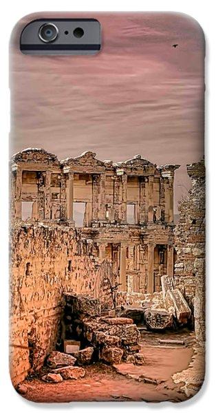 Ephesus iPhone Cases - Ruins of Ephesus iPhone Case by Tom Prendergast