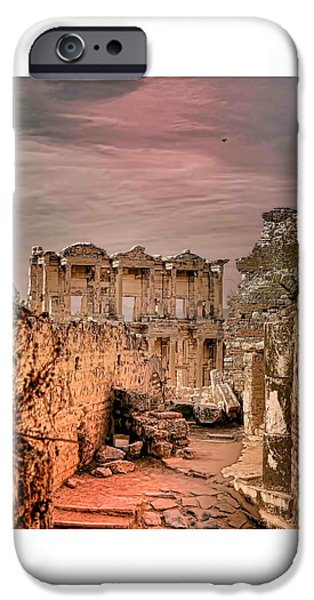 Ephesus iPhone Cases - Ruins of Ephesus iPhone Case by Tom Prendergast