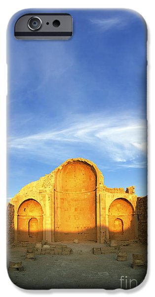 Ruins of Shivta Byzantine Church iPhone Case by Nir Ben-Yosef