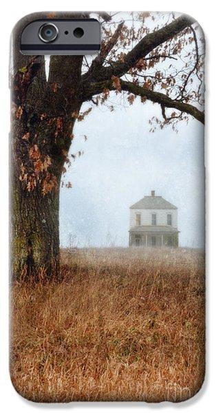 Rural Farmhouse and Large Tree iPhone Case by Jill Battaglia