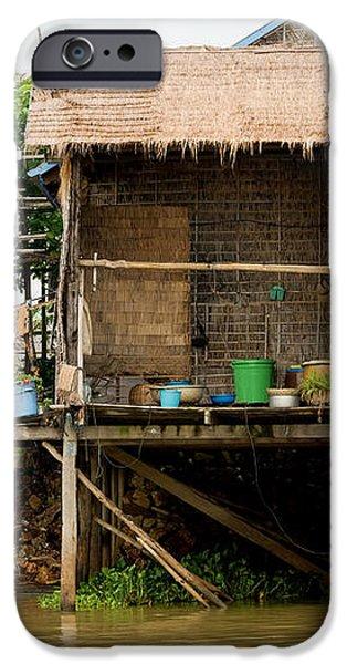 Rural Houses in Cambodia iPhone Case by Artur Bogacki