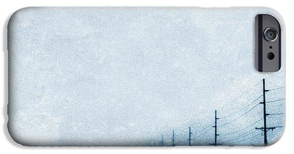 Wintertime iPhone Cases - Rural Road in Winter iPhone Case by Jill Battaglia